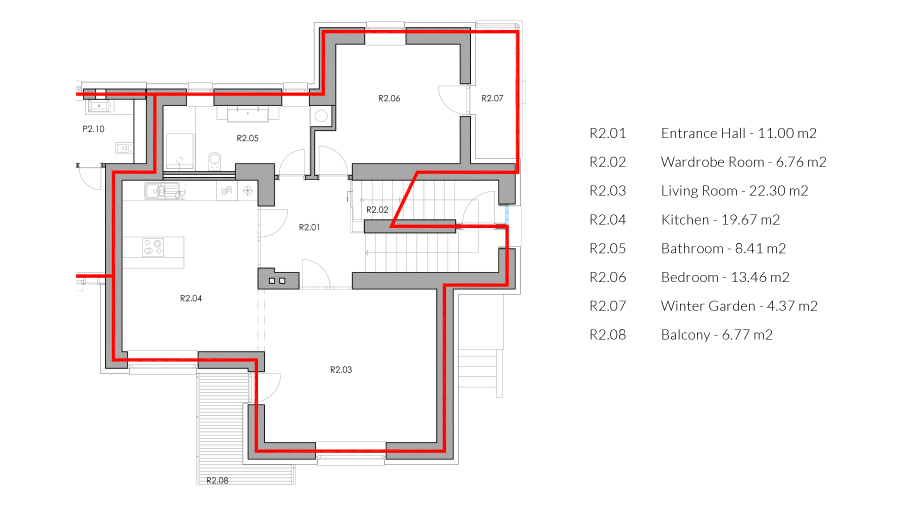 zoerentals_rastislavova_comfort_one_bedroom_apartment_with_balcony_ground_plan