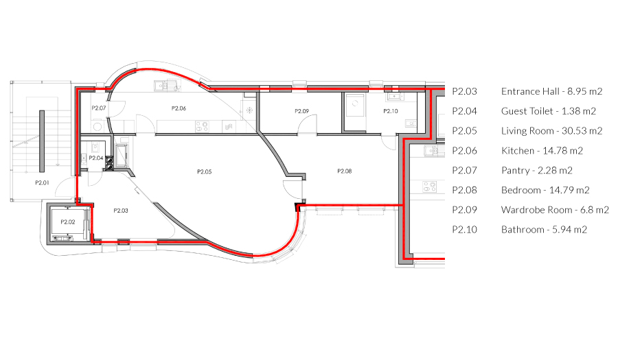 zoerentals_rastislavova_comfort_one_bedroom_apartment_with_fireplacee_ground_plan